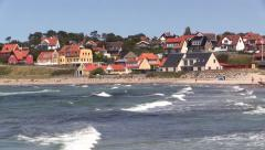 Zoom-out from Hundested Beach Stock Footage