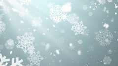 Christmas Winter Snowflakes 1– Loopable Background - stock footage