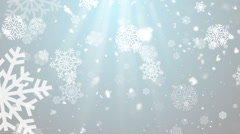 Christmas Winter Snowflakes 3– Loopable Background Stock Footage