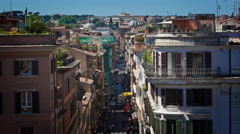 Venetian rooftop time-lapse. Stock Footage