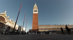 Sunset time-lapse of Saint Mark Square from San Giorgio Island. Stock Footage