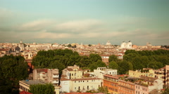 Traffic in front of the Vittoriano monument in Rome. - stock footage