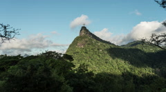 Time-lapse daylight footage of Christ the Reedemer statue from Tijuca National Stock Footage