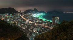 Time lapse shot of coast in Rio de Janeiro with Sugar Loaf in background Stock Footage