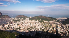 Rotating time lapse over Rio and Sugar Loaf Mountain. Stock Footage