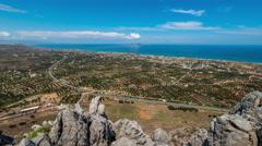 Cretan coast Stock Footage