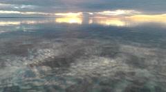 Stromatolites Sunset Shark Bay Australia Stock Footage