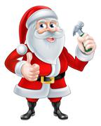 Santa Handyman Stock Illustration