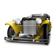 Classic yellow car Piirros
