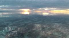 Scenic Sunset Stromatolites Shark Bay Australia Stock Footage