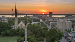 Charleston Skyline Stock Footage
