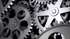 3d Animation of steel gears Stock Footage