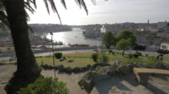 Beautiful view of Douro River in Porto Stock Footage
