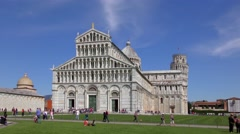 4K footage of the Cathedral of Pisa in Pisa, Italy Stock Footage