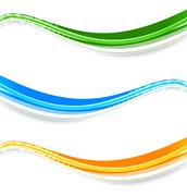Wave banners Stock Illustration