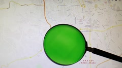 Ethiopia and its capital Addis Ababa seen trough a green magnifying glass - stock footage