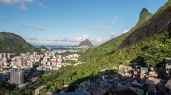 Time lapse during the day viewing Cristo Redentor and Morro Dois Irmaos 8K - stock footage