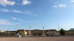 Real time view of the main entrance to Schonbrunn castle Stock Footage