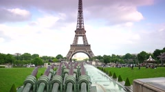 ULTRA HD 4K real time shot,Car traffic in Paris under Eiffel tower Stock Footage