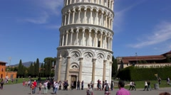 4K footage of the Leaning Tower of Pisa in Italy Stock Footage