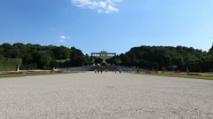 View of the Gloriette at Schonbrunn Stock Footage