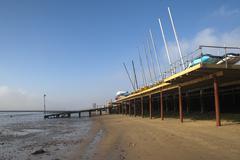 Southend Beach, Essex, England - stock photo