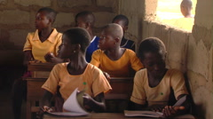 African kids at school. Stock Footage