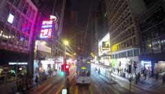 Timelapse seen from tram on Hong Kong Island Stock Footage