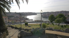Relaxing in Jardim do Morro in Porto Stock Footage