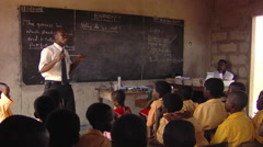 A man teaching students in Africa. Stock Footage