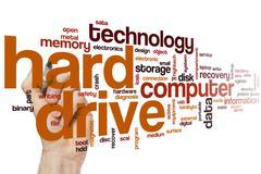Hard drive word cloud Stock Photos