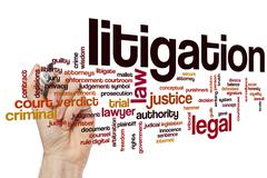 Stock Photo of Litigation word cloud