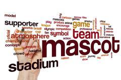 Mascot word cloud concept Stock Photos