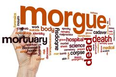 Morgue word cloud - stock photo