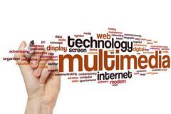 Multimedia word cloud - stock photo
