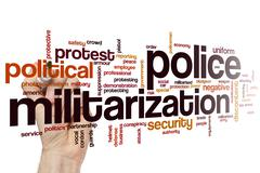 Police militarization word cloud - stock photo