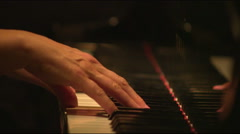 Close-up of hands playing a piano in Salt Lake City, Utah. Stock Footage