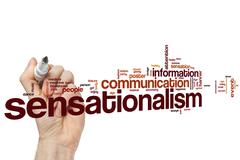 Sensationalism word cloud - stock photo