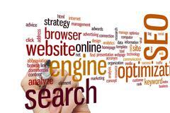 SEO word cloud Stock Photos