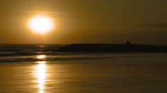 Sunset time-lapse of a beach in Bali. Stock Footage