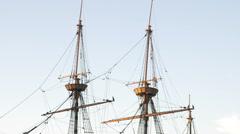 Masts of the Mayflower in Massachusetts. Stock Footage