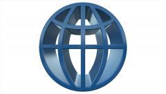 World logo symbol 3d animation Arkistovideo