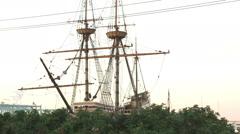 Shot of the Mayflower in Massachusetts. Stock Footage