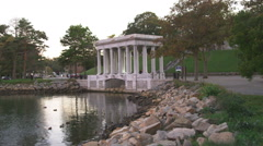Plymouth Rock in Massachusetts. Stock Footage
