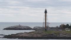 Marblehead light tower on the coast of Massachusetts. Stock Footage