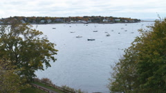 View of Marblehead Harbor in Massachusetts. Stock Footage