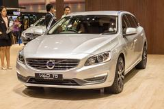 Stock Photo of Volvo V60 T5 special edition on display