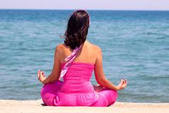 Yoga exercises for the mind and body Stock Photos
