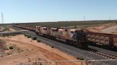 Stock Video Footage of Iron Ore Freight Train Western Australia