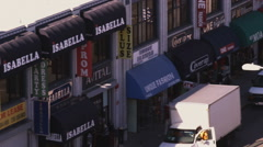 Street shops in Los Angeles. Stock Footage